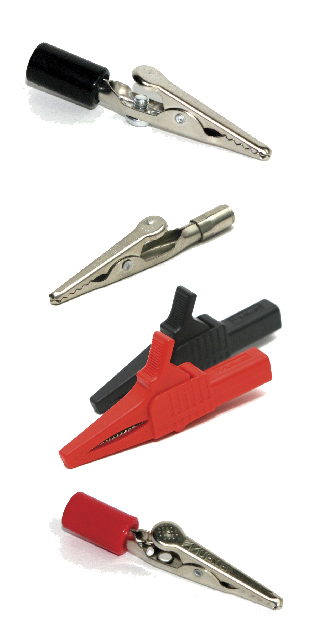 different examples of alligator clips